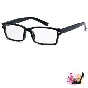 The Shoe Loft Accessories - Nerd Square Frame Non-Prescription Eyeglasses
